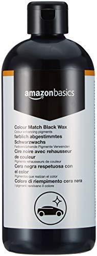 Amazon Basics - Wachs, für Autolacke mit der gleichen Farbe, Schwarz, 500ml, Flasche mit Klappdeckel