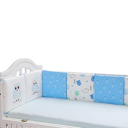 Erfula Baby Cuna Parachoques Patrón De Búho Cubierta De Riel De Cuna De Bebé Cojín Interior Cuna De Envoltura Segura Protector De La Protección De La Cama Liner AntiParachoques Exceptional