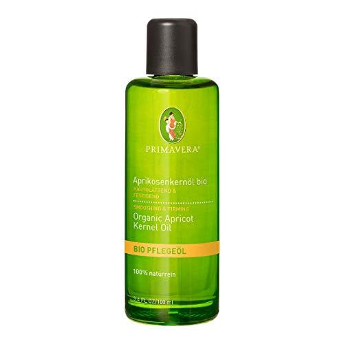 PRIMAVERA Pflegeöl Aprikosenkernöl bio 100 ml - Naturkosmetik, Pflanzenöl, Hautöl - glättend, festigend bei reifer und empfindlicher Haut - vegan