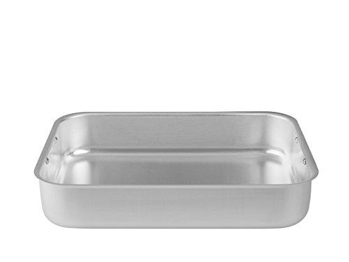 Ollas Agnelli Tostador rectangulares de Esquinas Redondas, sin Cubierta, BLTF Aluminio, con Acabado Mate, Plata, 26x20 cm