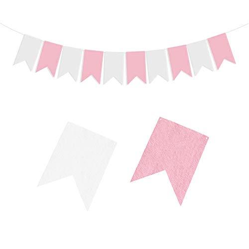 YOUYIKE Guirnalda de papel de fieltro con cola de milano, decoración para fiestas, decoración para el hogar, fiestas, ceremonias, cola de milano (BF)