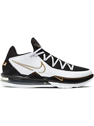 Nike Lebron Xvii Low Herren Basketballschuhe Cd5007-101, Weiá (Weiß/Metallic-Gold-Schwarz), 43 EU