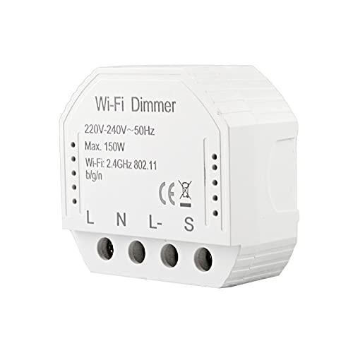 Interruptor de Control Remoto Inteligente 3 Métodos de Control Interruptor Inalámbrico WIFI Receptor Temporizador de Control de Ahorro de Energía para Lámpara de Electrodomésticos
