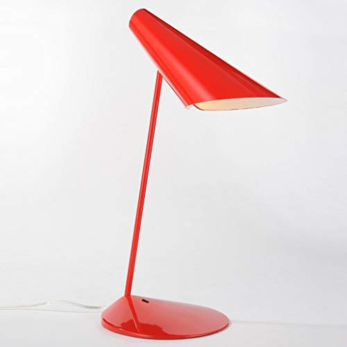 YAeele Lámparas de Mesa de la Personalidad Creativa Simple pequeñas lámparas de Mesa, Moderna Minimalista Dormitorio de Noche lámpara de Lectura, Lectura la Noche la luz, Verde (Color : Red)
