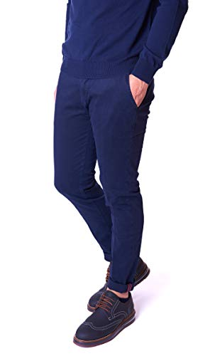 YAN SIMMON Pantalone Uomo Slim Fit Blu Davide - YS704D Blu, Taglia 56