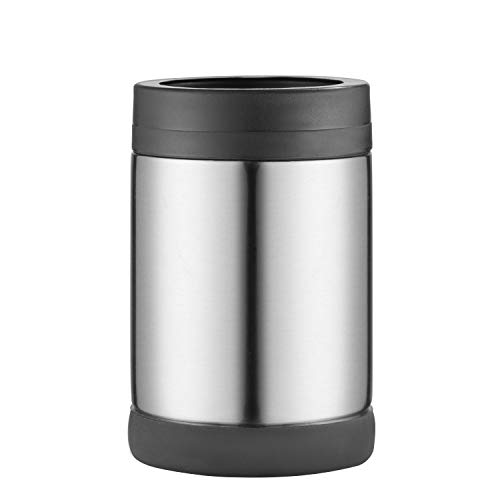 Pretfarver Stainless Steel Double Insulated Can Cooler and Beer Bottle Cooler, 12 Oz Skinny Can Holder for Drink Tumbler Beer Can -Bottle Insulators, Perfect for Tailgating and Parties BPA Free Gray