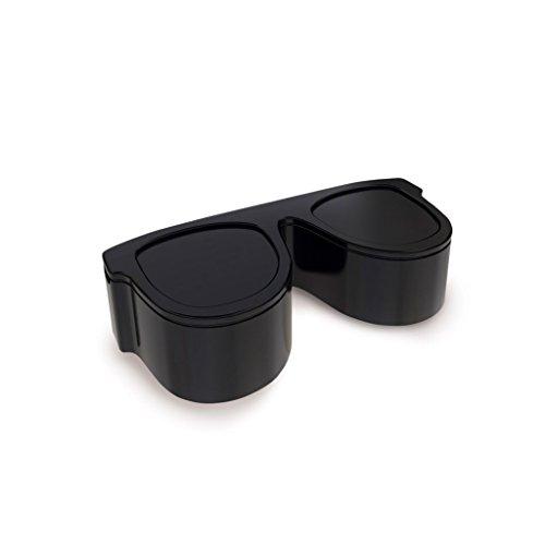 balvi Aschenbecher Sunny Farbe Schwarz in Form Einer Sonnenbrille Mit Zwei Auffangschalen Origineller Aschenbecher für zu Hause Melamin 5 x 16,5 x 6,9 cm
