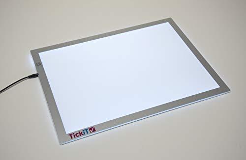 TickiT Ultra Bright LED Light Panel - Adjustable Brightness - Sensory, Color and Shape Exploration on a Light Box