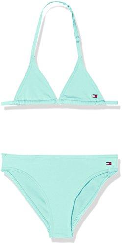 Tommy Hilfiger Mädchen Badebekleidungsset Triangle Bikini Set, Blau (Aruba Blue 936), 140 (Herstellergröße: 10-12)