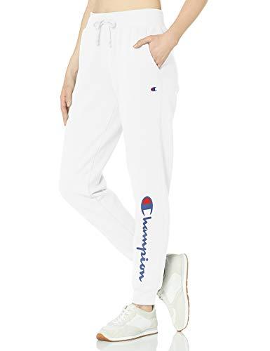 Champion Damen Powerblend Graphic Jogger Jogginghose, White-y07459, X-Groß