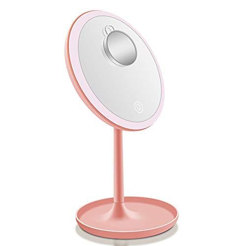 SXFYWYM LED Make Up Mirror Smart Touch DREI kleurenvullicht met 5 x vergroting USB-oplaadbaar verjaardagscadeau