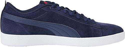 Puma Damen Smash WNS v2 SD Sneaker, Blau (Peacoat-Bright Rose White), 40 EU