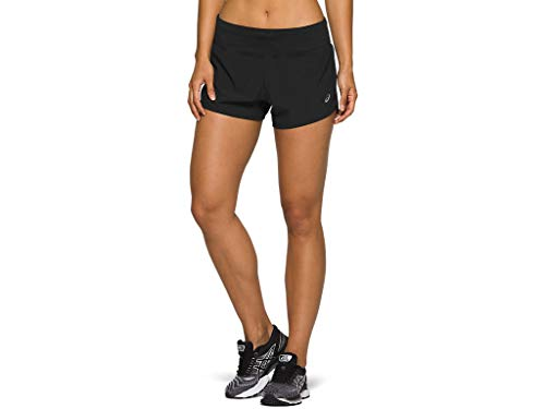 "ASICS Women's Road 3.5"" Short Running Apparel, L, Performance Black"