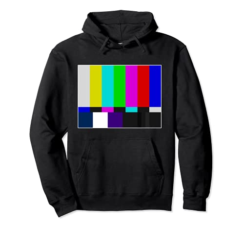 TV-Farbbalken Vintage Retro-Testmuster Bunter Regenbogen Pullover Hoodie