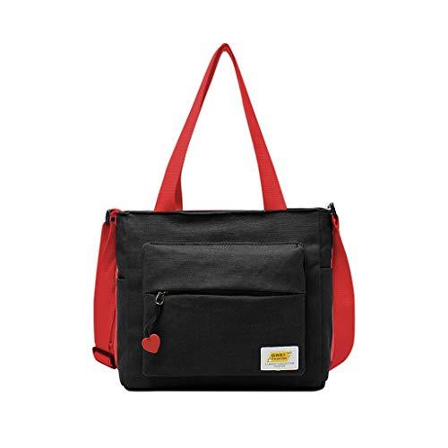 Calvinbi Canvas Handtasche Damen Schultertasche Strandtasche Casual Umhängetaschen Henkeltasche Groß für Arbeit Schule Shopper Lässige täglich Crossover Bag Messenger Bag für Mädchen Frauen