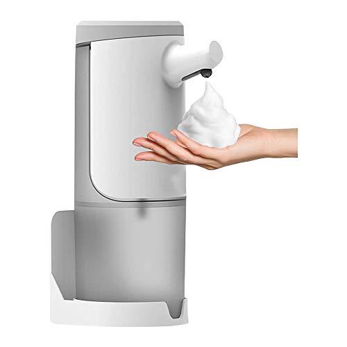 YICI Dispensador automático de jabón de 450 ml Dispensador desinfectante sin contacto Sensor inteligente Dispensador de jabón líquido Carga USB para cocina Baño (Versión de espuma)