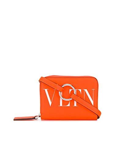 Luxury Fashion   Valentino Heren TY0P0R48CFWCK0 Oranje Leer Portemonnees   Lente-zomer 20