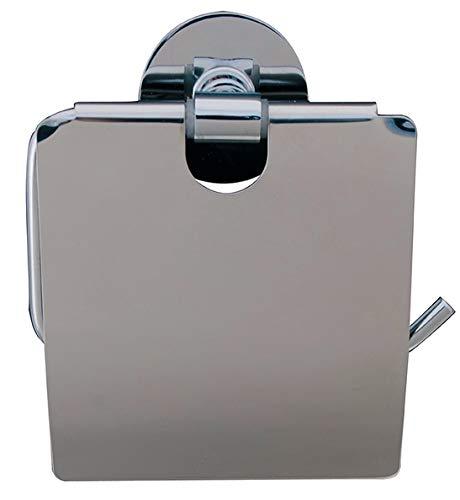 Spirella WC Rollenhalter Easy Edelstahl Toilettenpapierhalter Klopapierhalter zum kleben oder Bohren