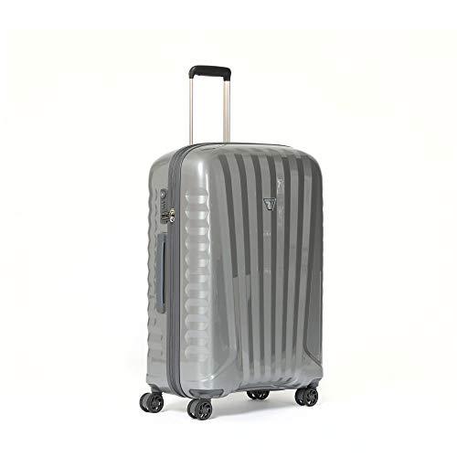 RONCATO, Trolley Uno Bright Medio 4 Ruote Unisex – Adulto, Silver, One Size