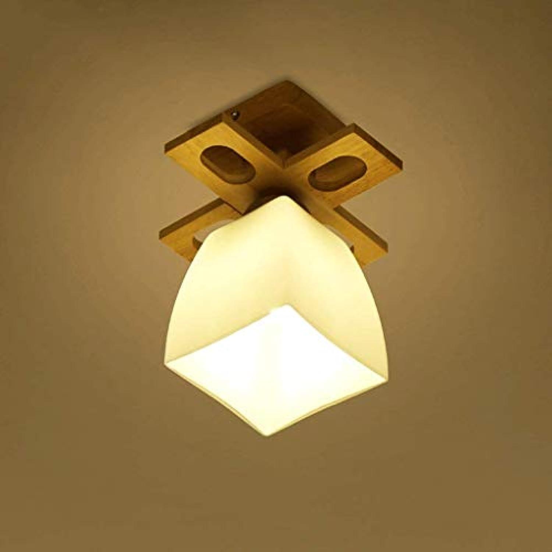 GCCI Lampe der einfachen Decke aus Holz Salon zur Decke des Gangs des Eintritts in Holz Lichter Led Lampen