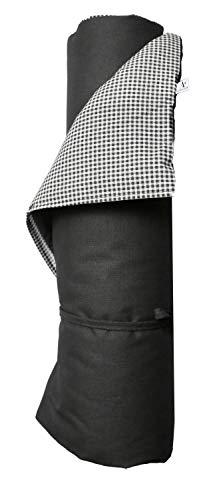 A.U MAISON Picknickdecke Pepita Karomuster 130x170cm schwarz grau WA