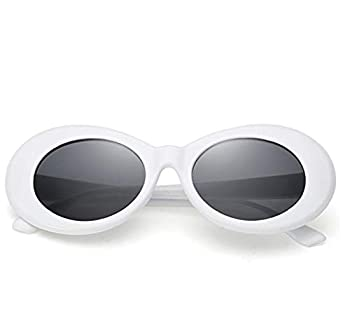 Sunglasses for kids,FOURCHEN Bold Retro Oval Mod Thick Frame Sunglasses Round Lens Clout Goggles 100% UV Proof Sunglasses for girls/boys Toddler Sunglasses Kids Sunglasses