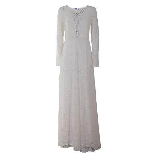 Brigitte Bardot Luxury Fashion Damen BB50011WH Weiss Polyester Kleid | Jahreszeit Outlet