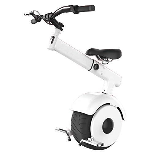 LUO Monociclo Eléctrico, Smart Scooter, Modo Somatosensorial, Motor 60V / 800W, la Velocidad Más Rápida Es 15Km / H, Monociclo Adulto Unisex con Asiento Y Manillar