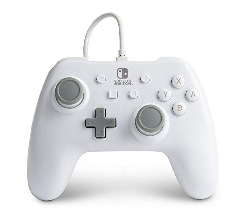 PowerA Wired Controller for Nintendo Switch - White, Gamepad, Wired Video Game Controller, Gaming Controller - Nintendo Switch