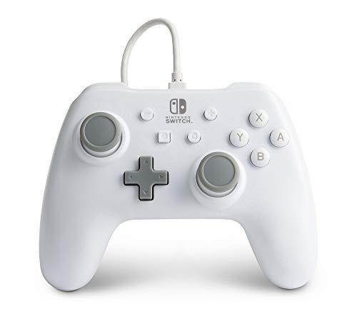 Mando con cable PowerA para Nintendo Switch: Blanco