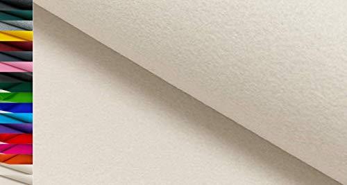 StoffBook Stabiler BASTELFILZ TASCHENFILZ Stoff 4MM-100CM Stoffe METERWARE, D220 (weiß)