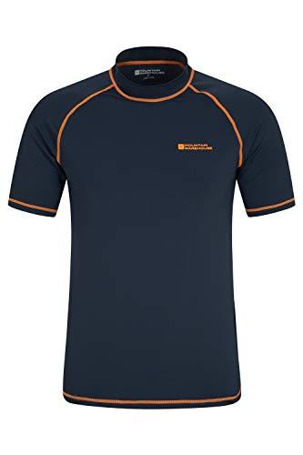 Mountain Warehouse Camiseta térmica con protección Solar UV para Hombre - Camiseta térmica con protección Solar UV UPF50+, Top térmico de Secado rápido, Costuras Planas Azul Marino XS