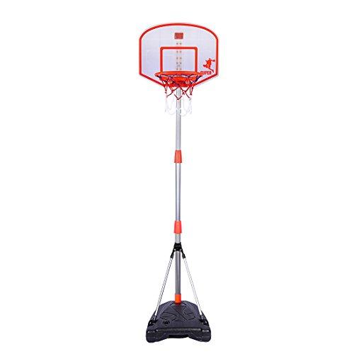 Tosbess 170cm Cesto de Baloncesto con Soporte Altura Ajustable–Soporte para Canasta de Baloncesto Back Tarjeta Soporte Hoop Juego para Niños