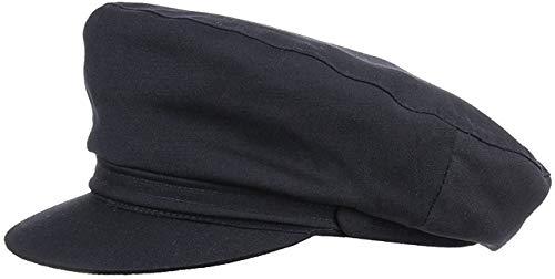 fiebig Schiffermütze für Damen & Herren | Schlichte Kapitänsmütze mit Baumwolle | traditionelle Matrosenkappe aus 100% Baumwolle | Klassische Schirmmütze für das ganze Jahr (62)