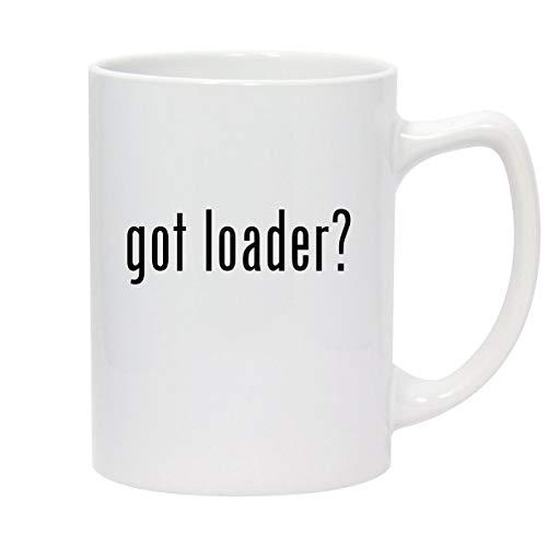 got loader? - 14oz White Ceramic Statesman Coffee Mug