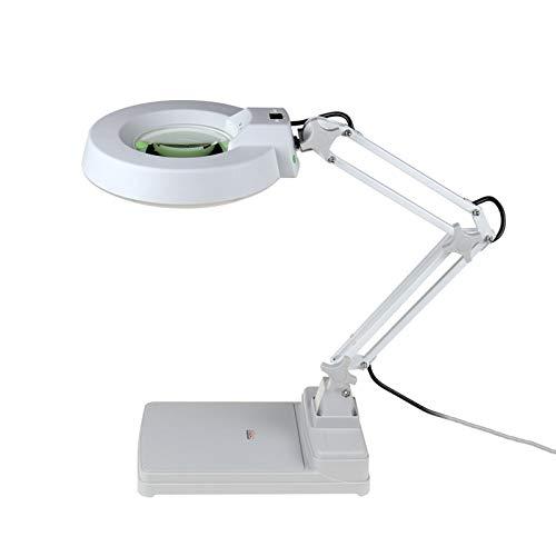 Yiyu 10X Lupe Mit 30 LED Beleuchtung - Bastellupe Tischlupe Es Zum Lesen, Inspektion, Löten, Handarbeiten, Reparatur & Hobby x (Color : A)