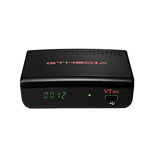 GT Media V7 S2X HD Sat Receiver DVB-S/S2/S2X Full HD 1080p H.265 mit Antenne WiFi USB, Unterstützung YouTube CCcam autoBiss PowerVu PVR Ready Aufnahmefunktion