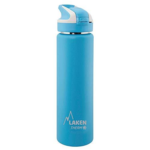 Laken Summit Bottiglia d'Acqua Doppia Parete Borraccia Termica e Isolante in Acciaio Inox con Tappo Sportivo 750ml Azzurro