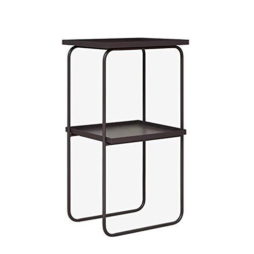 Jcnfa-Tables H Shape End Table,Floor-Standing Bookshelf, 2-Layer Pallet Sofa Side Table, Metal Stable Support Frame, Bookshelf, Bathroom Shelf (Size : 16.1412.9929.92in)