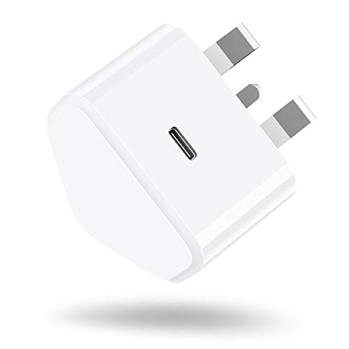Niluoya 20W USB C Fast Charger Replacement for iPhone 12/12 Mini/12 Pro/12 Pro Max, PD 3.0 Mains Wall Charging Plug Power Delivery Adapter for Phone 11 Pro Max SE 2020, AirPods Pro, iPad Pro