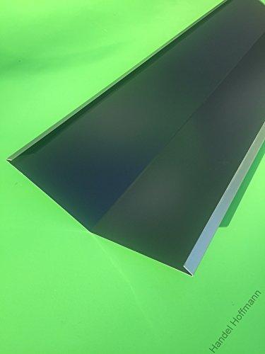 Kehlbleche 1 m lang Aluminium farbig 0,8 mm (klein, Anthrazit RAL 7016)