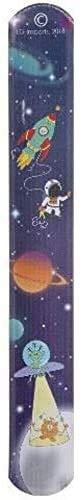 Schnooridoo 12 braccialetti a scatto spaziali con scritta 'Space Weltall', ideali come regalo di compleanno per bambini, carnevale