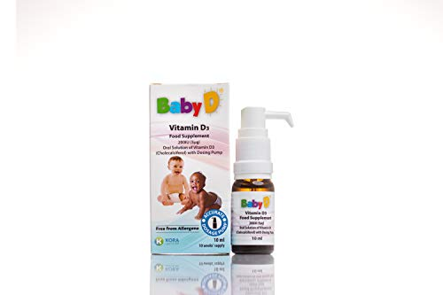 BabyD Vitamin D Food Supplement 200IU (5μg) Oral Solution with Dosing Pump