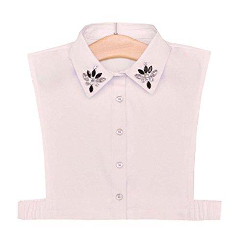 Dragon Troops Weißes Hemd Falsches Halsband Klassisches Weißes Modehemd Falsches Halsband, A6
