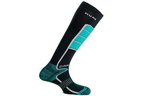 Mund Socks Carving Seamless Socks mit hoher Dichte, Schienbeinschoner, blau, EU 34-37