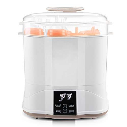 COSTWAY 3-in-1 Dampfsterilisator, Flaschenwärmer, Babykostwärmer, Flaschen Sterilisator, Baby Milchwärmer, Babyflaschenwärmer, bis zu 10 Babyfläschen, zum Sterilisieren, Trocknen, Erwärmen