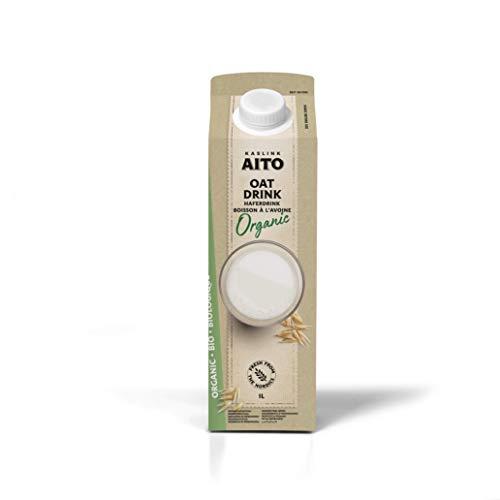 Aito Bio Organic Hafermilch Getränk | Vegan Milchersatz Drink aus Hafer | 1L x 6 Pack