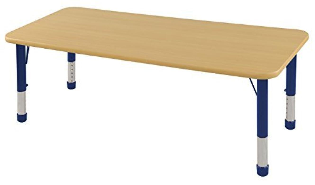 原始的な泣き叫ぶ年金受給者ECR4Kids T-Mold 30 x 60 Rectangular Activity School Table Chunky Legs Adjustable Height 15-24 inch (Maple/Navy) [並行輸入品]