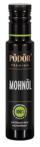 PÖDÖR - Mohnöl 100 ml - kaltgepresst - naturbelassen - ungefiltert