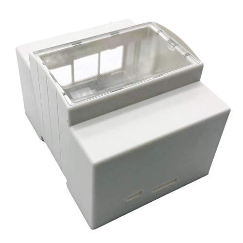 MAGFUN para Raspberry Pi 4 Modelo B Caja ABS Caja Blanca Caja Protectora Caja para RPI 3 Modelo B +